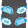 Left and right side signs - Cloud computing Stock Image