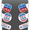 Left and right side signs - Made In USA Stock Images