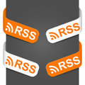 Left and right side signs - Rss Stock Photography