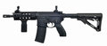 Left side AR15 SBR with 30rd mag and extended collapsible stock Royalty Free Stock Photo