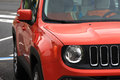 Left side of the orange vehicle Royalty Free Stock Photo