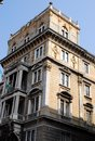 Left side part of an important building in Trieste in Friuli Venezia Giulia (Italy) Royalty Free Stock Photo