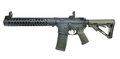 Left Side Supressed AR15 SBR with 30rd mag and collapsed stock Royalty Free Stock Photo