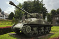 Left view of the Sherman tank from the 7th Armoured Division Royalty Free Stock Photo