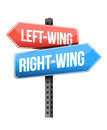 Left wing and right wing road sign illustration design over white Stock Photo