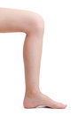 Leg bent at the knee Royalty Free Stock Photo