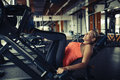 Leg day for beautiful woman Royalty Free Stock Photo