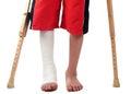 Leg fracture Royalty Free Stock Photo