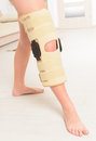 Leg in knee cages woman s for stabilization and support Stock Images