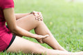 Leg Pain In A Woman Royalty Free Stock Photo