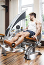 Leg press Royalty Free Stock Photos