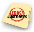 Legacy customer words stamped folder loyal buyer client file on a manila for a or who is faithful reliable and long time supporter Stock Image