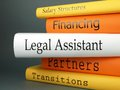 Legal assistant law practice books a horizontal stack of related book titles Stock Images