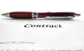 Legal contract a and pen Royalty Free Stock Photo