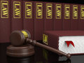 Legal education gavel and law books symbols of law and literature Royalty Free Stock Photo