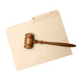 Legal folder a gavel and represent documents Stock Photo