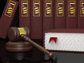 Legal literature gavel and law books symbols of law and Stock Images