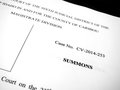 Legal Order Decree from Court Law Papers Royalty Free Stock Photo