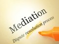 Legal series mediation stock image selective focus on the word Stock Photos