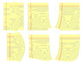 Legal yellow pages with curl at corners..