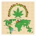 Legalization of marijuana or cannabis legalize Royalty Free Stock Photo