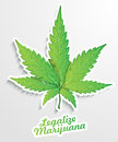 Legalize marijuana illustration background Stock Photo
