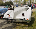 Legendary cars auburn boattail speedster replica supercharged arctic white color only of the originals were produced were designed Stock Photos