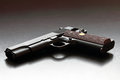 Legendary US .45 caliber handgun. Stock Photos