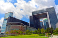The legislative council complex hong kong alongside with central government at road central it Royalty Free Stock Image
