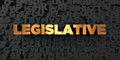 Legislative - Gold text on black background - 3D rendered royalty free stock picture