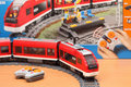 Lego city passenger train tambov russian federation january shot of set trademarked in capitals as is a popular line of Royalty Free Stock Image