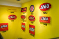 Lego history overview of logos throughout the years Royalty Free Stock Photo