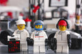 Lego McLaren Mercedes team crew members Royalty Free Stock Photo