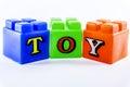 Lego plastic building blocks Royalty Free Stock Photo