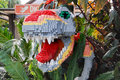 Lego Sculpted Dinosaur Stock Photography