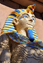 Lego sculpture of an Egyptian Pharaoh Royalty Free Stock Photography
