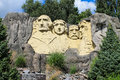 Lego statue of mount rushmore in legoland billund denmark is made million blocks Royalty Free Stock Images
