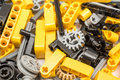 Lego Technic Pieces Pile Close Up Royalty Free Stock Photo