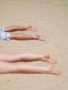 Legs on the beach Royalty Free Stock Images