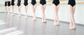 Legs of dancers ballerinas in class classical dance ballet young Royalty Free Stock Photography