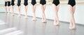 Legs of dancers ballerinas in class classical dance, ballet