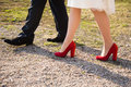 Legs of man and woman Royalty Free Stock Photo