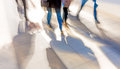 Legs of people in blurred motion Royalty Free Stock Photo