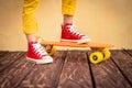 Legs of skateboarder Royalty Free Stock Photo