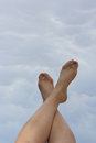 Legs and sky Royalty Free Stock Photo