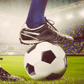 Legs of a soccer player Royalty Free Stock Photos