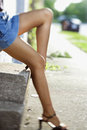 Legs of woman. Royalty Free Stock Images