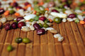 Legumes and cereals macro dried closeup Stock Photos