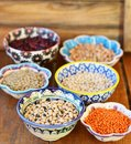 Legumes variety of different tipe Stock Image