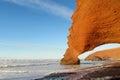 Legzira beach stone arch Royalty Free Stock Photo